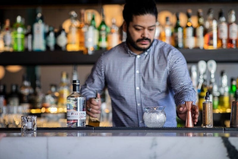Discover Sandy's cocktail at Duvernois Creative Spirits, made with romeo's gin