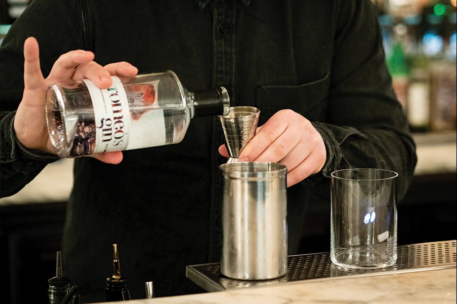 Discover Romain's cocktail at Duvernois Creative Spirits, made with romeo's gin