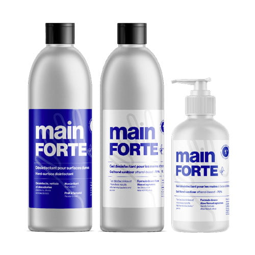 Mainforte, a hand sanitizer project by Duvernois